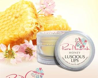 Pure Nourish Luscious Lips - organic natural vegan honey lip balm