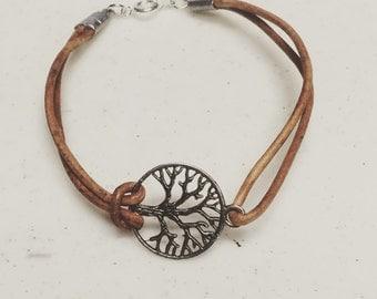 Tree of Life Leather Bracelet