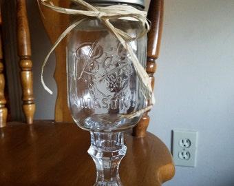 Redneck mason jar wine glass
