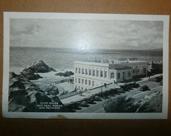 Vintage Postcard The Cliff House And Seal Rocks San Francisco old collectible