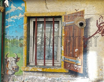 Country Photography, Window Photography, City Wallpaper, Instant Download, Printable art, Urban Art