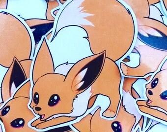 SALE! Pokemon Normal Eevee Paper Laptop/Notebook Sticker