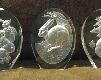 Animal Sculptures in Crystal - Set of Twelve