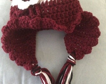 Baby Crochet Ruffle Hat