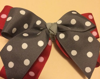 Red and Gray Hair Clip