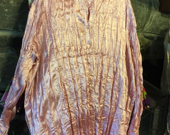 Pink polyester blouse size 4x
