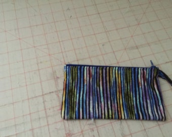 Striped Coin Pouch
