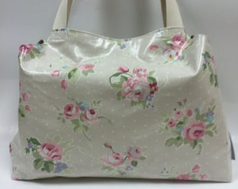 Maxi-mum shoulder bag i floral oulcloth fabric x