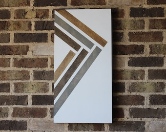 Inlay Look | Modern Wall Art | Wood Wall Art  |  Geometric Wall Art  |  Abstract Art