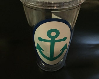 Anchor drink tumblers, teal and navy!