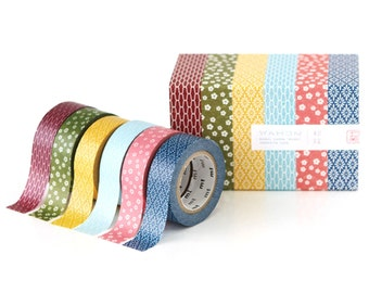 6 pattern Japan MT masking tape sample - 50 cm per color - NOT whole roll