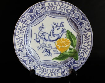 Set of Four Patterened Ceramic Plates