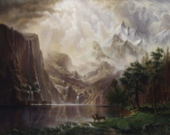 Mountain Lake, Albert Bierstadt