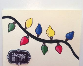 String of Lights Christmas Card