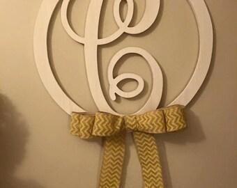 Large Single Letter Monogram Wall Hanger