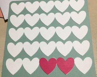 Hearts Wedding Card