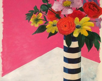 Striped Vase, fine art print