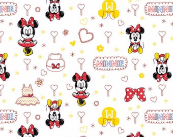Disney Minnie Mouse in White Fabric From Camelot