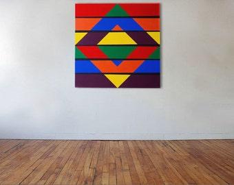 Inverse Diamond - Acrylic on canvas - 75cm x 75cm