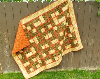 Earth Tones Batik Quilt