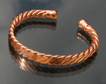 Magnetic Solid Copper Twisted Rope Bracelet