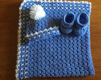Baby boy blanket set