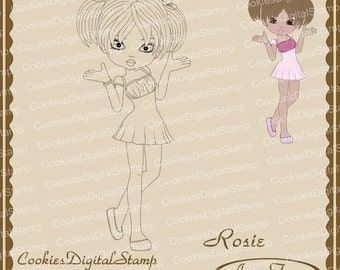 Rosie Digital Stamp