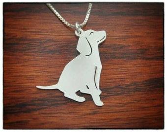 Full dog pendant necklace