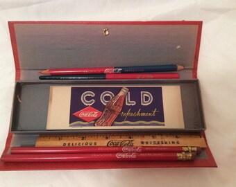 Vintage Coca Cola Pencil Box