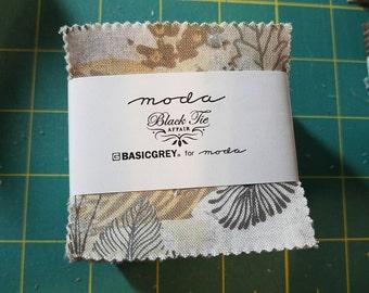 Black Tie Affair by Moda mini charm pack new