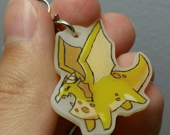 Yellow Dragon (With Spots) Plastic Charm