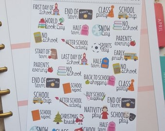 Back to School, Planner Stickers, Primary School, Teaching Stickers