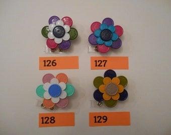 Large Multi-Colored Flower Badge Holder