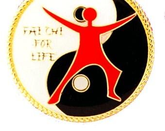 Yin Yang Tai Chi For Life Pin