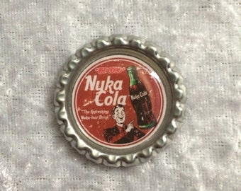 Nuka Cola Inspired Bottle Caps from Fallout 4 Red Advert Design