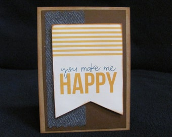 You Make Me Happy Notecard