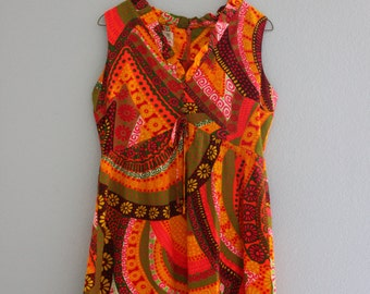 Vintage Psychedelic 60s Dress