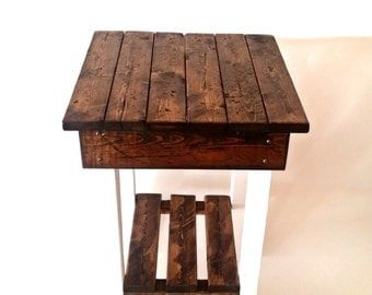 Nightstand/End Tables/ Bed Side Tables/Rustic Night Stand/Aged/Barnwood Side Table/Vintage Farmhouse/Wood/Handmade/Custom
