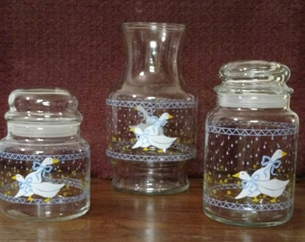 Shafford Eliza Duck & Country Geese Canister Set