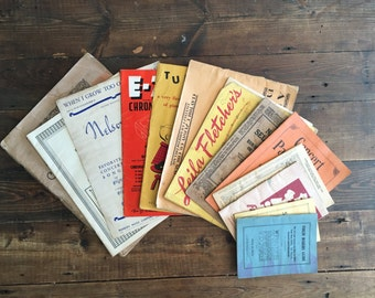 Collection of 13 Vintage Music Books & Instruction Manuals/Collectible Music Books/Decorative Music/Parlor Music/Instructional Music Books