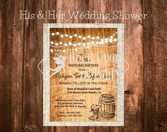 His and Her wedding shower invite