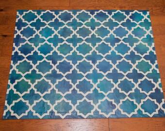Moroccan Tile Floor Cloth