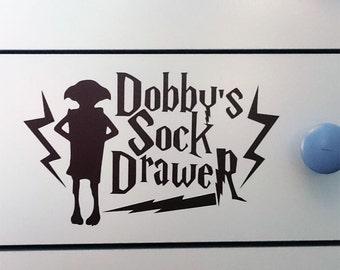 Harry Potter Dobby's Sock Drawer Bedroom Vinyl Sticker / Decal