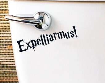 Harry Potter Inspired Toilet Sticker / Vinyl Decal 'Expelliarmus!'