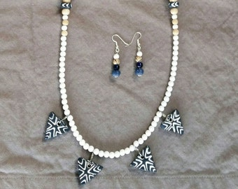 Tribal/Festival necklace set using recycled /Upcycled beads for the eco-conscious