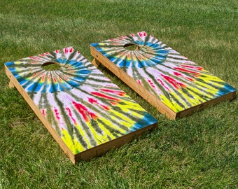 Tie-Dye For Cornhole Board Set