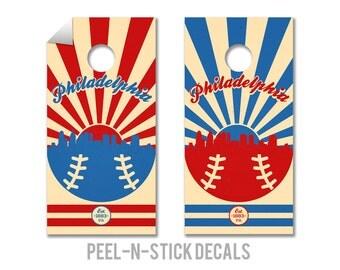 Philadelphia Phillies Cornhole Board Decals