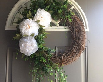 Beautiful Peony Wreath