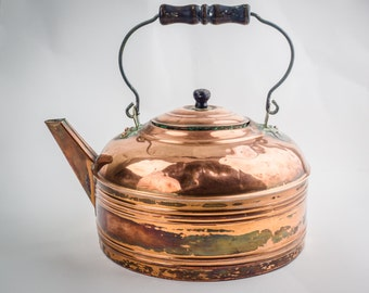 Antique cooper kettle.
