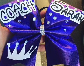 Custom Cheer coach bow